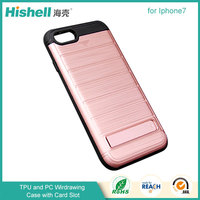 Stylish Mobile Back Cover with Wiredrawing PC TPU Case for iphone7