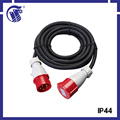 IP44 CEE male connector type high quality spiral extension cord