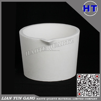 High purity refractory alumina ceramics crucibles