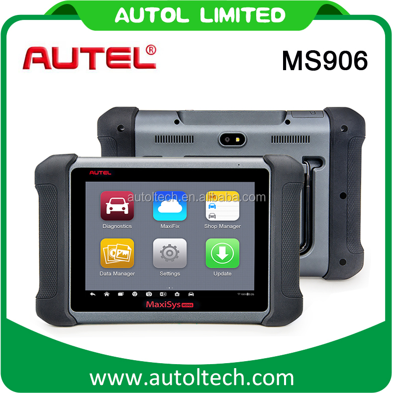 "8.0"" touch screen AUTEL MaxiSYS MS906 Car Diagnostic Scanner with cable connect with car"