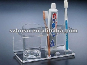 Acrylic Toothbrush Stand
