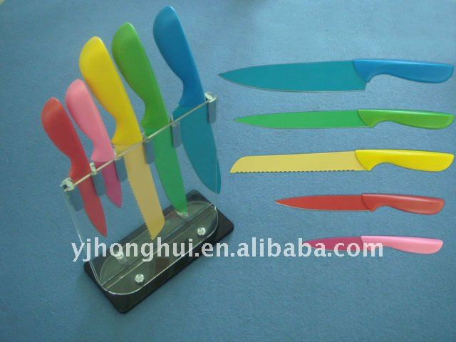 5PCS Colorful funny Kitchen Knife Set