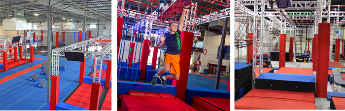 American ninja warrior training gym equipment