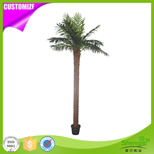 Wholesale 200cm fiberglass trunk artificial outdoor decorative palm trees