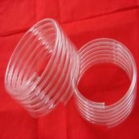 Quartz Glass Tube Spiral,Clear Quartz Tube,different type Quartz Glass Tube
