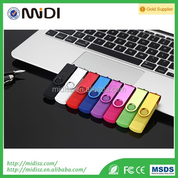 wholesale swivel otg high speed USB 3.0 flash drive, android mobile phones and computer dual usb