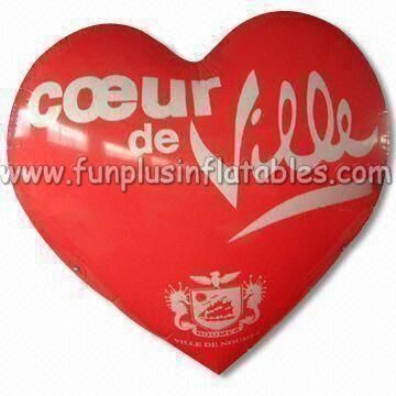 Red heart shape inflatable helium balloon/sky balloon for advertising P3019
