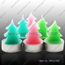 green christmas trees candle
