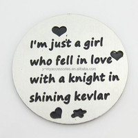 I am just a girl stainless steel floating locket plate
