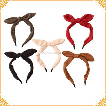 Factory Custom Headband Simple Style Girl Hair Bow Nice Headband Elegant Rabbit Ear Hairband For Lady Hair Accessories