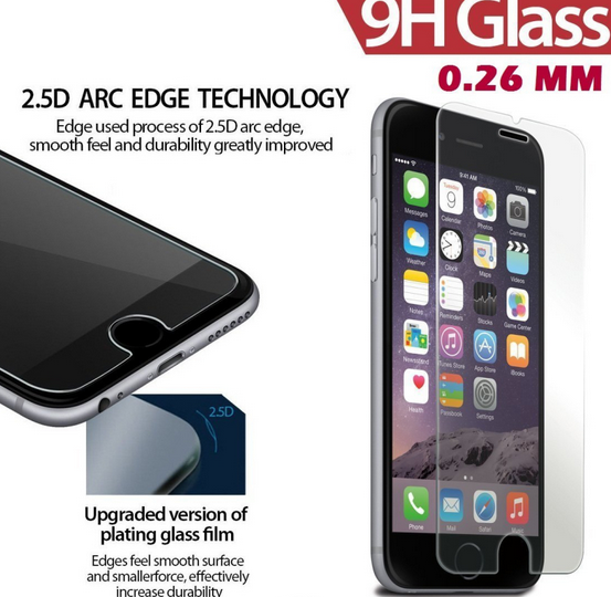 Privacy Tempered Glass Screen Protector For Iphone 7, Anti Shock 3D Tempered Glass Screen Protector/