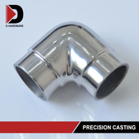 manufacture stainless steel square 2 way tube connector