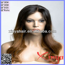 Fashion wholesale super quality natural wavy full lace wig long hair wigs for men