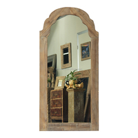 Home Decor Window Vintage Wooden Wall Mirror