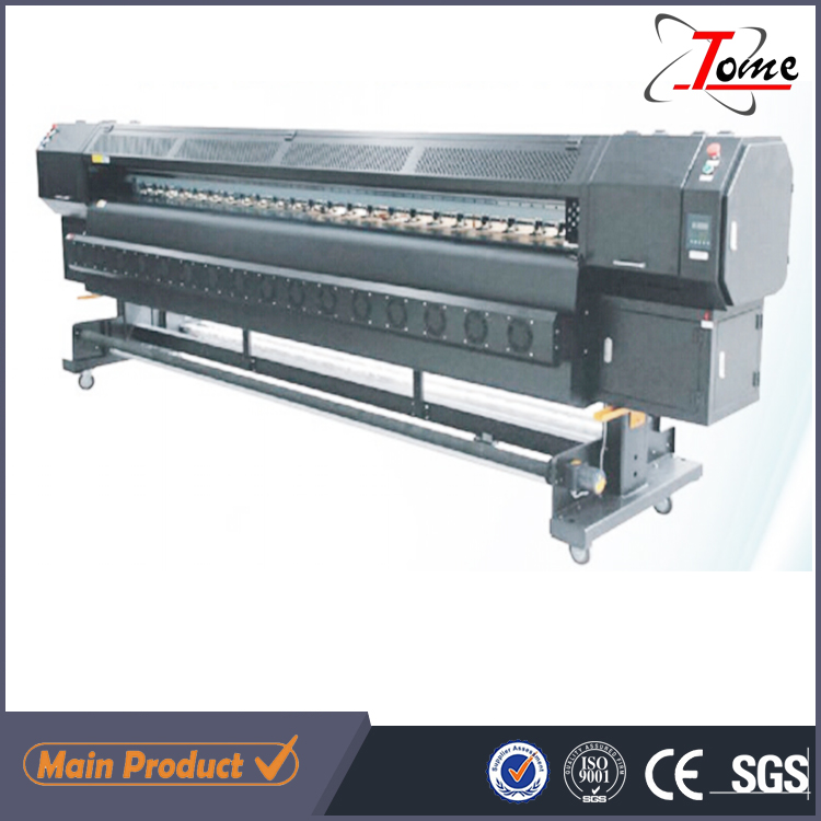 3.2m Allwin outdoor solvent flex banner digital printing machines with Kanica heads