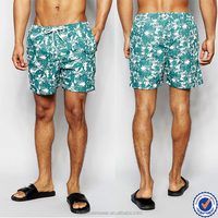 Guangzhou Factory mens swimwear Sublimation print mens swim beach shorts