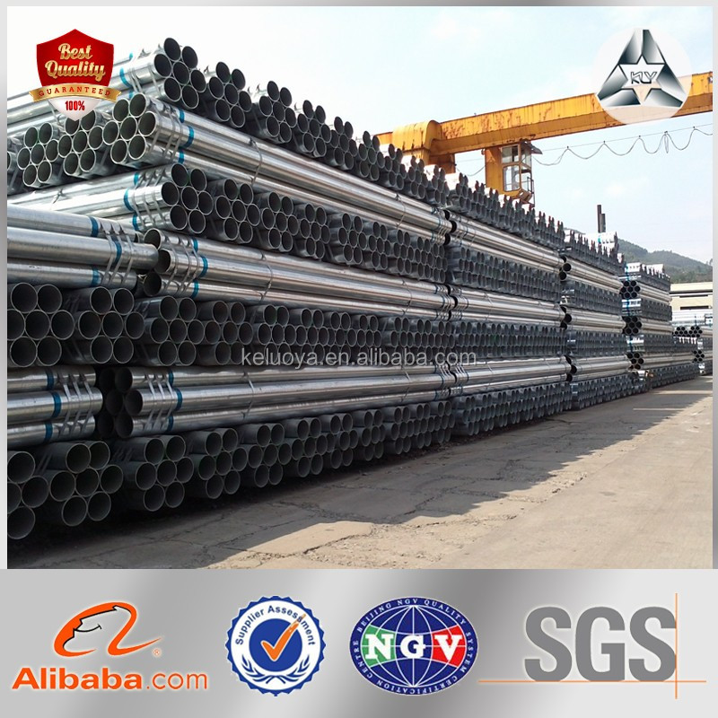 Building Construction Materials GI Circular Pipe Zinc Coated Galvanized Circular Tubular for Wholesales Galvanized Steel Pipe