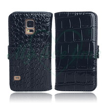 OEM Factory Black PU Leather Folio Case for Samsung Galaxy S4
