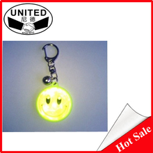 Highlight reflective keychain smiley reflective magnetic refrigerator stickers child reflective