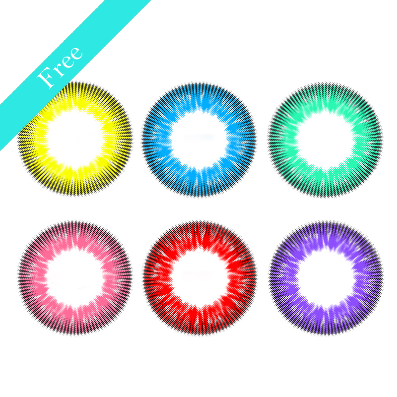 Hot selling Bella Cheap Wholesale Doll Eye Free Series Big Eye Circle lens Colored Contact Lenses