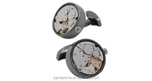 high-end good quality identity noble Custom Stainless Steel Tourbillon Movement Cufflinks