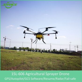 15L/20L agricultural autonomous sprayer drone with GPS and ground station software