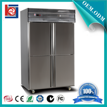 4 door stainless steel industrial upright freezer / commercial freezer refrigerator prices 4 door stainless steel