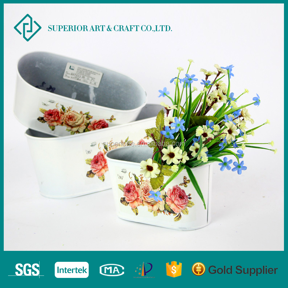 Embosses European Style wrought iron window flower boxes
