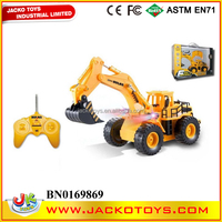 6CH remote control truck 360 degree rotation rc excavator