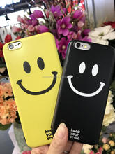 In-Mold Decoration TPU Smiling face cartoon cell phone case for Iphone 6,6 plus,7,7 plus