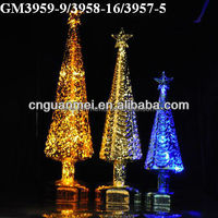 2015 new design glass christmas tree