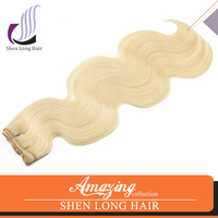 2015 Hot new top quality remy human hair, remy hair color 613 brazilian hair bundles
