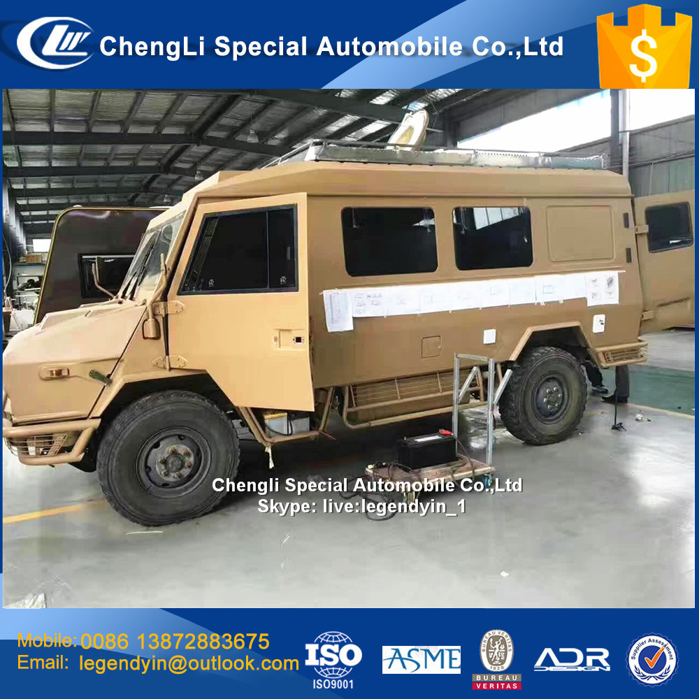 China CLW made Military Quality I VECO 2046 4x4 AWD RV caravan motorhome truck for sale customized internal configuration