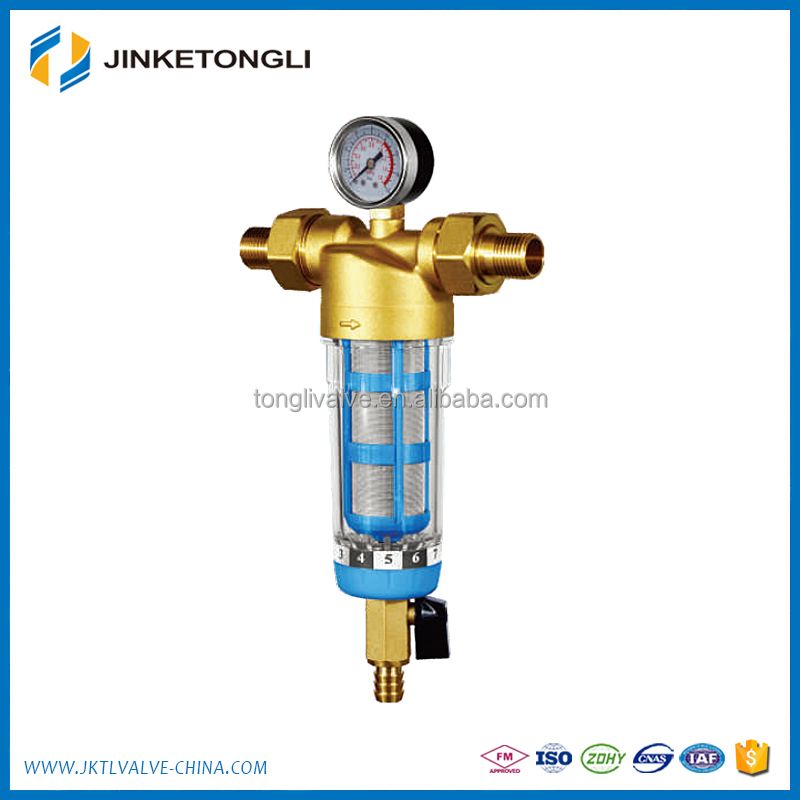 brass automatic backwash water filter/pre water filter