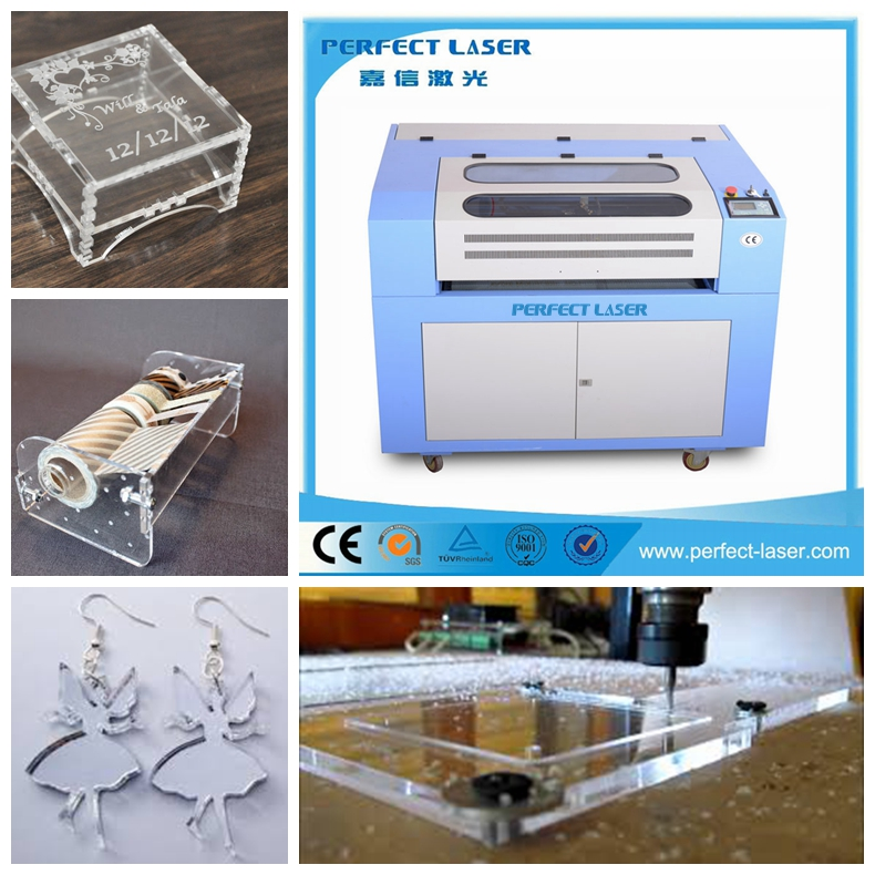 PEDK-13090 co2 acrylic wood plexiglass laser cutter for glass leather plastic stone rubber for sale