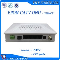 Fast ethernet ftth gepo CATV 4FE onu modem compatible with HuaweI/ZTE/Fiberhome OLT