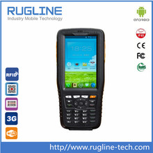 "4"" IP65 Quad Core rugged touch screen android pda phone with barcode scanner"