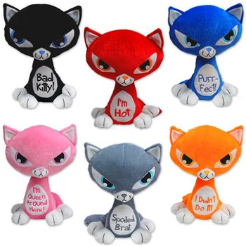 promotional customized colorful stuffed plush stuffed cats wild animal toy with high quality
