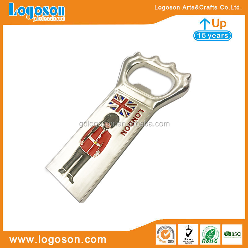 2018 Party Gifts Metal Enamel Magnetic Wine Openers Car Shaped Bottle Opener London Bus Bottle Opener