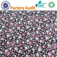Printed flowers 100% Cotton Fabrtc poplin for garment dress 105gsm