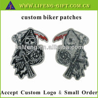 Embroidery for clothing, Custom Biker Patches