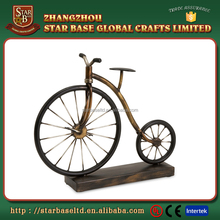 Custom made wholesales decorative metal wronght iron bicycle sculpture