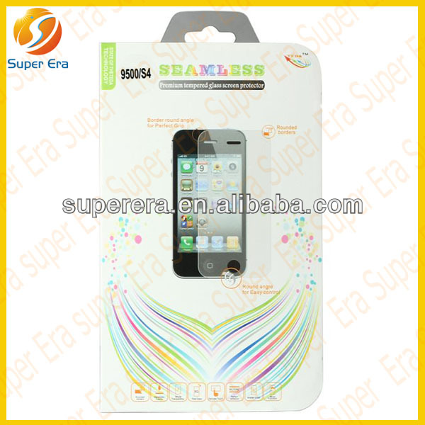 Super era mobile phone for samsung galaxy S4 9500 9505 tempered glass screen protector--large wholesale in china alibaba