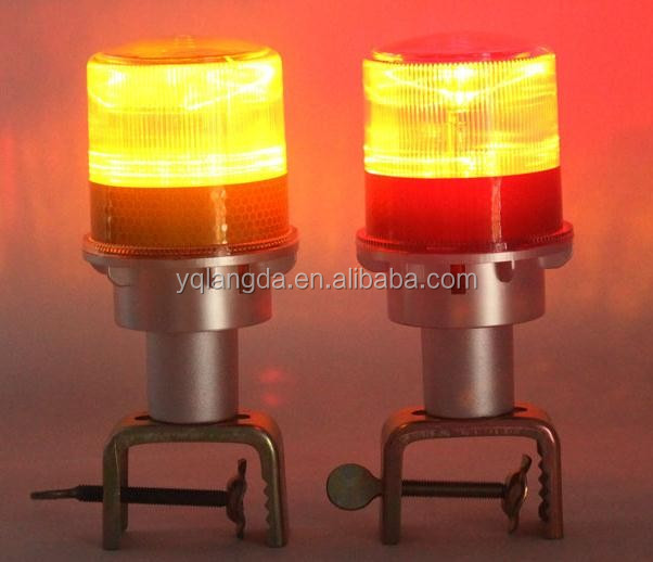 Solar power road traffic cone warning beacon LED light