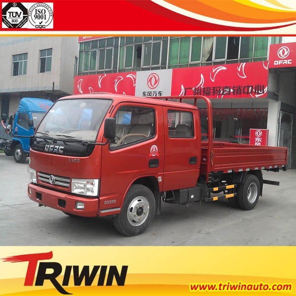china manufacturer supplier 4x2 double cabin 1.5 ton 1.8 ton 2 ton mini small dongfeng flat bed truck
