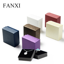 FANXI China Wholesale Cheap Ring Necklace Gift Paper Jewelry Box Printing Black Packaging Cardboard Box