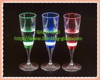 2015 factory whole-sale led flashing champagne glass