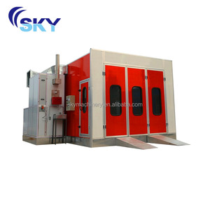 2018 China supplier CE proved spray booth/used car paint booth/car spray oven bake booth