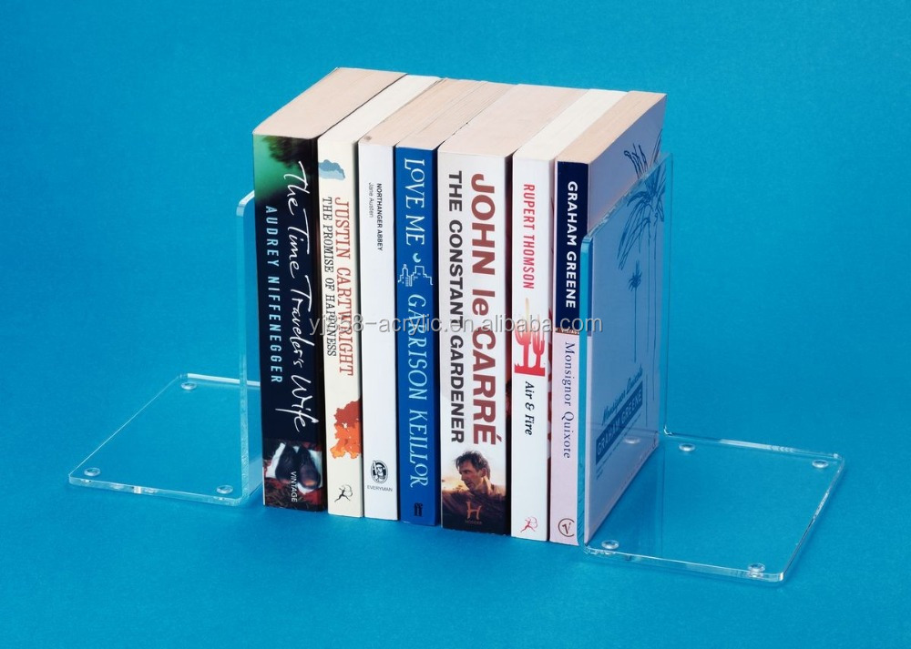 Cheap wholesale clear acrylic bookends