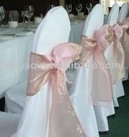 Spandex chair cover with organza sash and fashion banquet chair cover